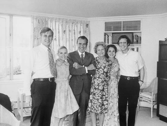 Edward Cox Tricia Richard Nixon Pat Julie David Eisenhower